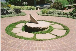 Sundial with thyme