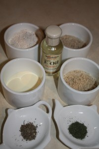 Ingredients for facial scrub