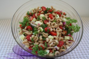 Parsley pasta salad