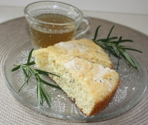 Coffee cake and tea